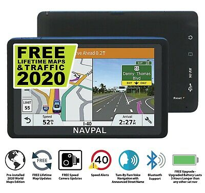 SLIMLINE SAT NAV GPS Navigation, 7 Inch Bluetooth +2019 World Maps+FREE Updates