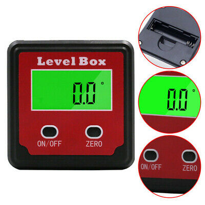 LCD display Spirit tool Digital Inclinometer Angle Meter Protractor  Level Box