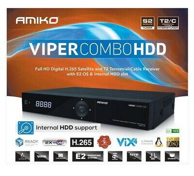 Decoder Combo Amiko Viper HDD DVB-S2+T2/C FULL HD H.265 Iptv Linux Enigma 2 PVR