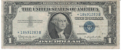 """United States """"SILVER CERTIFICATE"""" One Dollar Banknote, Series 1957."""