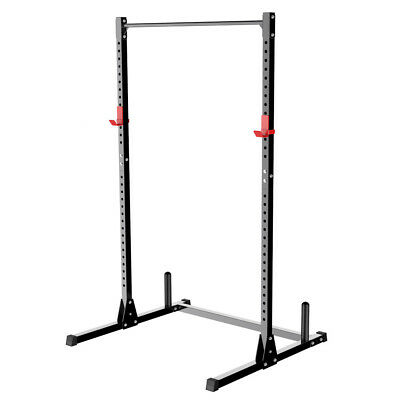 Adjustable Squat Rack & Dip Stand Barbell/Weight Gym Bench Power/Lifting UK