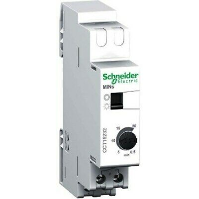 Schneider CCT15232 Miniature Timer Lighting DIN 0.5-20mins Silent Electronic NEW