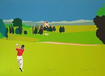 "FRANCO COSTA -  "" GOLF 3  "" Serigrafia """