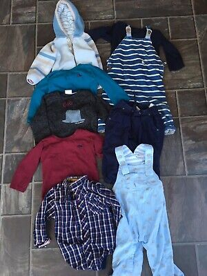 Boys age 9-12 Months Small Bundle Outfits Dungarees Long Sleeve Tops Shirt Next