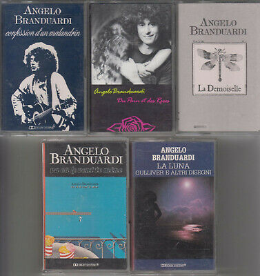 Angelo Branduardi  LOT DE 5 K7 CASSETTES AUDIO