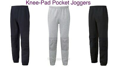 Mens TUFFSTUFF Comfort Work Pant Joggers with Knee Pad Pockets Jogging Bottoms