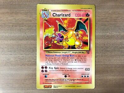 Pokemon Card Jumbo Charizard Promo Coro Coro Base Set 4/102 English