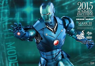 Hot Toys Iron Man STEALTH Mark III Die Cast MK 3 MMS314 D12 Exclusive NEW/Sealed