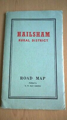Hailsham Rural District Road Map by G W May Ltd,  Pre-1971. Mayfield-Eastbourne