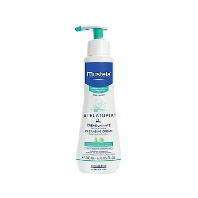Mustela Stelatopia Cleansing Cream, Baby Wash, for Eczema-Prone Skin, with Na...
