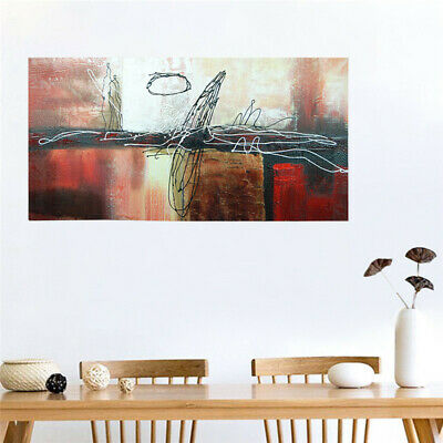 Hand Draw Art Canvas Oil Painting Wall Decor Framed - Reflected in the Water