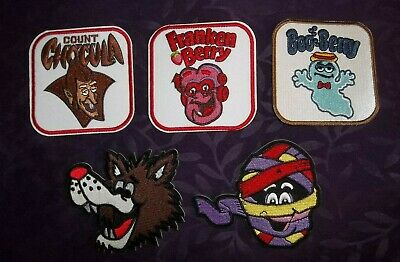 Boo Berry Patch Monster Cereals Patch Set Count Chocula Frankenberry Fruit Brute