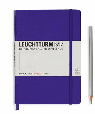 Leuchtturm1917 A5 Medium Hardcover Journal, Dotted, Purple