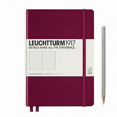 Leuchtturm1917 A5 Medium Hardcover Journal, Dotted, Port Red