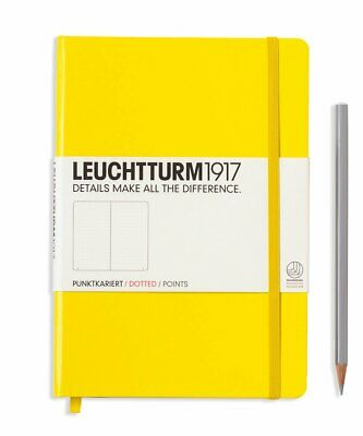 Leuchtturm1917 A5 Medium Hardcover Journal, Dotted, Lemon