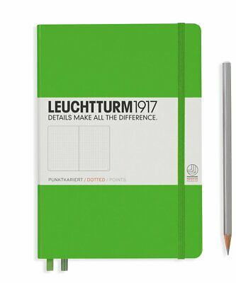 Leuchtturm1917 A5 Medium Hardcover Journal, Dotted, Fresh Green