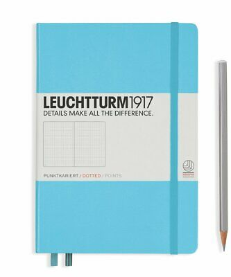 Leuchtturm1917 A5 Medium Hardcover Journal, Dotted, Ice Blue