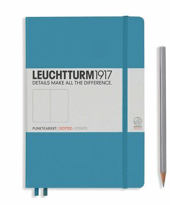 Leuchtturm1917 A5 Medium Hardcover Journal, Dotted, Nordic Blue