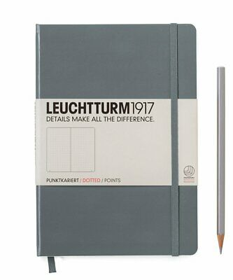 Leuchtturm1917 A5 Medium Hardcover Journal, Dotted, Anthracite