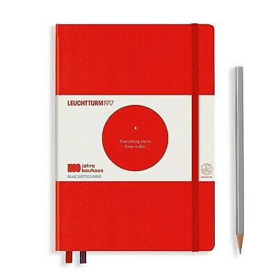 Leuchtturm1917 Special Edition Bauhaus A5 Medium Hardcover Journal, Dotted, Red