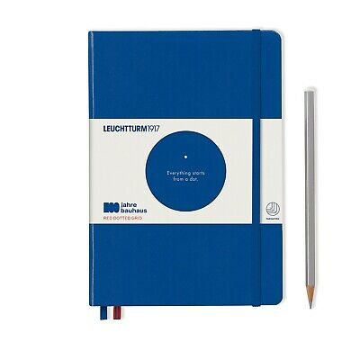 Leuchtturm1917 Special Edition Bauhaus A5 Medium Hardcover Journal, Dotted, Blue