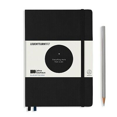 Leuchtturm1917 Special Edition Bauhaus A5 Hardcover Journal, Dotted, Black