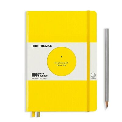 Leuchtturm1917 Special Edition Bauhaus A5 Hardcover Journal, Dotted, Yellow