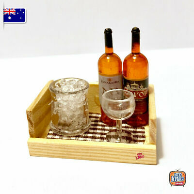 Mini Wine Bottles w ice in tray - add to your Coles Little Shop Mini Collection!