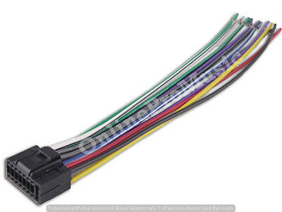 kenwood wiring harness 16 pin kdc 138 kdc 215s kdc 217 ships today Pioneer Car Stereo Wiring Diagram kenwood car stereo head unit replacement wiring harness plug indash dvd cd mp