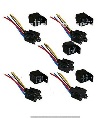 Awesome 5 Pack 30 40 Amp Relay Wiring Harness Spdt 12 Volt Bosch Style 5 Wiring Digital Resources Spoatbouhousnl