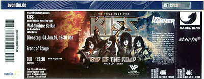 KISS -Waldbühne Berlin- Front of Stage - 1 Ticket- End of the Road World