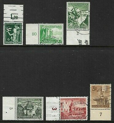 Germany (Third Reich) 1936 - 1943 Selection of Marginal Issues Used