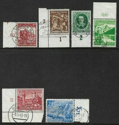 Germany (Third Reich) 1935 - 1940 Selection of Marginal Issues Used