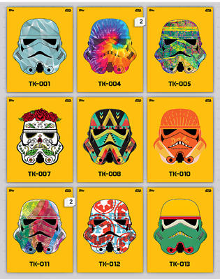 Topps Star Wars Card Trader Lot Of 33 Tk Stormtrooper Helmets *Not Physical*