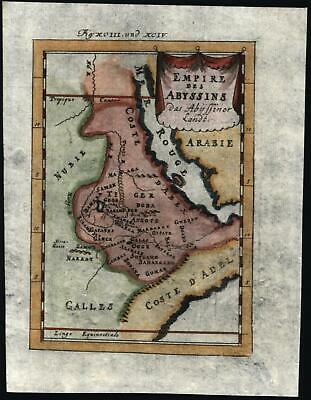 North east Africa Nile source Dambea Lake Middle East 1719 Mallet