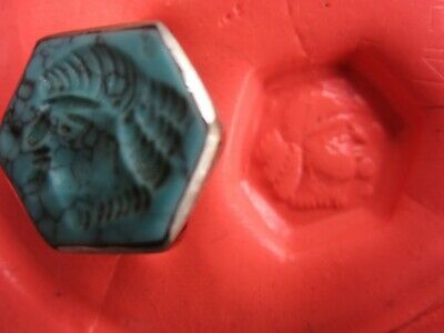 AUTHENTIC MEDIEVAL SILVER RING - INTAGLIO BUST - WEARABLE - over 1,000 years old