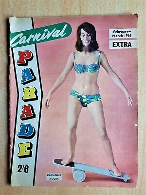 Carnival Parade Extra Glamour Magazine March 1965 Bond Girl Claudine Auger etc