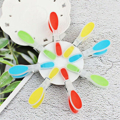 12 pcs Plastic Clothespins Laundry Pin Hanging Drying Clothes Spring Clip Home L