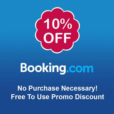10% Cashback BOOKING.COM  - Free To Use Promo Discount! No Purchase Necessary!