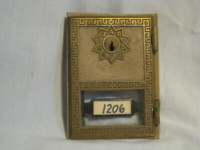 vintage post office box door P.O. USPS mail part Wood Prod. 1973 Eagle lock
