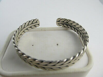 'Ron' Hand Wrought Sterling Silver Fine Vintage Cuff Bracelet Xlnt Cond