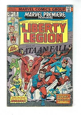 MARVEL PREMIERE # 29 (LIBERTY LEGION, Cents Issue, APR 1976), VG