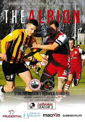 Stirling Albion v Berwick Rangers 2018/19 new football programme
