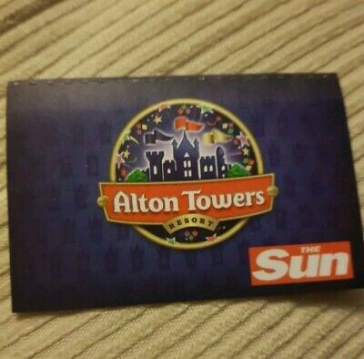Alton Towers Tickets 7/7/19 - Sunday 7Th July 2019 (Not E.tickets)