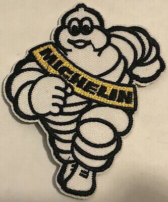 Michelin Man Tyres Embroidered Iron On Patch / Badge / logo overalls sport