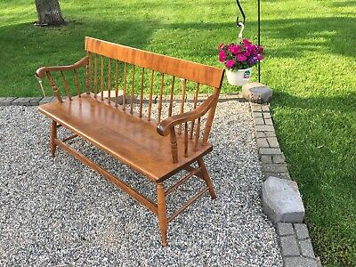 S. Bent & Bros Colonial Solid Wood Bench