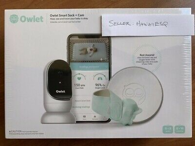 NEW Owlet Smart Sock 2 & CAM Heart Rate Oxygen Video Audio Complete Baby Monitor