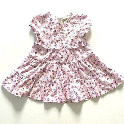 eb1a1ce89a3cb LAURA ASHLEY LONDON Baby girls cotton floral Party dress bow ties at ...