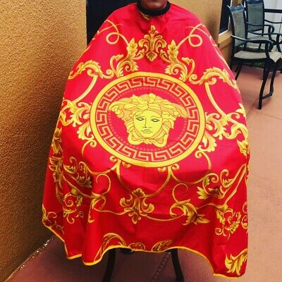 Barber hair cutting and styling cape