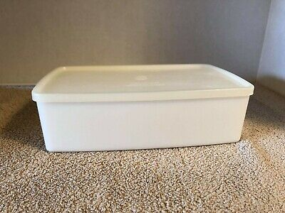 Freeze It Tupperware Storage Container 713 & Sheer Lid 714 ~ Long Rectangle